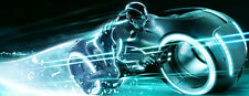 "Tron Legacy Light Cycles Movie Fabric poster 36"" x 13""  Decor 002"