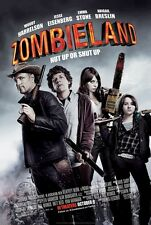 ZOMBIELAND movie poster EMMA STONE poster, WOODY HARRELSON : 11 x 17 inches
