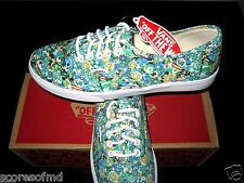 Vans Authentic Womens Lo Pro Ditsy Floral Pool Green Canvas shoes size 8 NWT