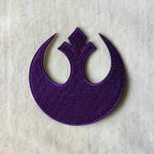 3inches STARWARS STAR WARS REBEL INSIGNIA EMBROIDERY IRON ON PATCH BADGE #PURPLE