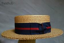 Vtg 1920s  Straw Boater Ribbon F R Tripler & Co 46 Street Madison Ave New York