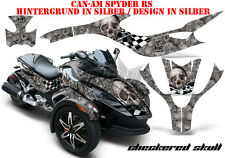 Amr racing decoración Graphic kit ATV can-am spyder RS, RT, RT-s, f3 checkered Skull B