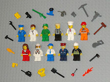 Lego MINIFIGURES Lot 11 People Army Doctor Girl Fireman City Space Guys Minifigs