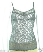 Aeropostale New Gray Lace Adjustable Straps Cami Top MSRP $14 Size XS