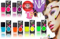 NV Nail Varnish Polish Bright Neon 6 Different Colours Ideal Gift