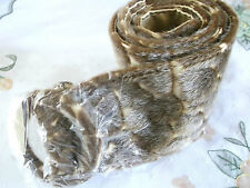 LADIES NEW BROWN  FUN FAUX FUR WIDE BELT ANIMAL PRINT
