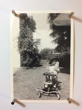 Vintage Photograph Of Infant On A Toy Cart CH43
