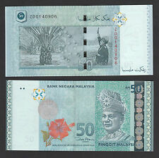 Malaysia 50 Ringgit (2009) P50r REPLACEMENT #ZD - Crisp UNC