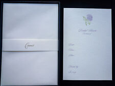 CRANE & CO FILL IN BRIDAL SHOWER HYDRANGEA CARDS PEARL WHT KID FINISH 10 CARDS