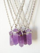 Amethyst Point Necklace Crystal Purple Bohemian Boho Gypsy NEW Gemstone