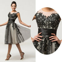 New Vintage Style Evening Party Bridesmaid Short Prom Gown Dress Stock PLUS SIZE