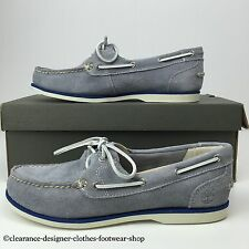 TIMBERLAND BOAT SHOE EK CLASSIC BOAT GREY WOMENS FLAT CASUAL SHOES UK 6 RRP £80