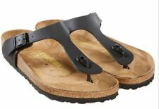 NEW BIRKENSTOCK Black  Gizeh T strap Thongs  SANDALS Size EUR 40 US  Womens 9
