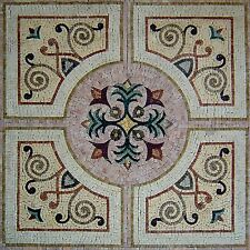 "48""x 48"" Handmade Square Floor Interior Home Decor Marble Mosaic Art Tile Stone"