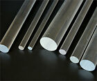 """CLEAR ACRYLIC PERSPEX ROUND ROD PMMA BAR CIRCULAR 12"""" LONG 3MM TO 16MM DIAMETER"""