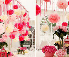 20pcs Wedding Party's Home Outdoor Decor Tissue Paper Pom Poms Flower Ball 50PM