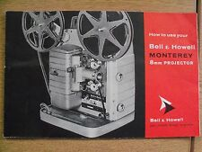 Instructions cine projector BELL & HOWELL MONTEREY 8mm