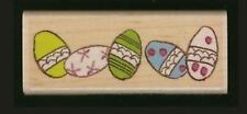 Stampabilities Rubber Stamp *Eggs in a Row* Easter  RCR1075