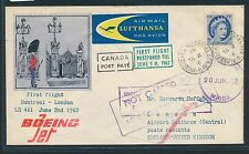79376) LH FF Montreal Canada - London 9.6.62, SoU sp.cover, rare !