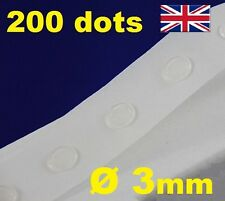 NEW 200 Glue Dots Sticky Craft Clear Card Making Scrap Removable 3mm STRONG