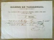 A26-DOCUMENTO VALLADOLID CONDESA MARSILLA 1853 FISCAL