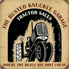 The Busted Knuckle Garage Tracteur Ventes signal métallique (pst 1212)