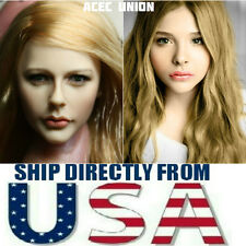KUMIK Chloe Moretz 1/6 Head Sculpt For Hot Toys Phicen Female Body - USA SELLER