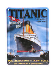 RMS Titanic Ship Decorative Tin Plaque 20cm-30cm Nautical Wall Sign Gifts