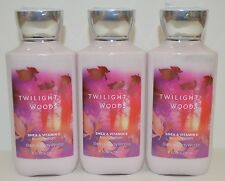 3 BATH & BODY WORKS TWILIGHT WOODS LOTION CREAM SIGNATURE SHEA VITAMIN E NEW LOT