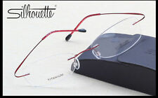 Silhouette Ultralight Titanium Rimless Glasses Frame Eyeglasses Frame Red,Pink,P