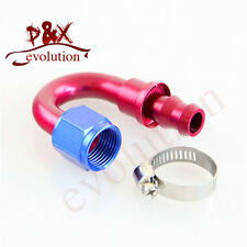12AN AN12 180 degree Oil/Fuel/Gas Line Hose End Push-On Male Fitting Adapter