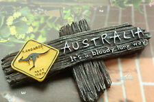 It's a bloody Long Way Australia Kangaroo Resin Souvenir 3D Fridge Magnet