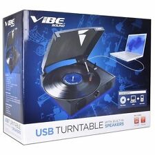 "USB Turntable with Speakers ""Vibe Sound""  ** NEW **"