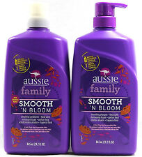 Aussie Family Smooth & Bloom Smoothing Shampoo 29.2oz & Conditioner 29.2oz