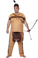 Native American Brave Chief Indian Plus Size Adult Men Costume