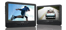 "LOGIK L9DUALM13 9"" LED Twin Screen Dual DVD Car Portable HeadRest DVD Player 12v"