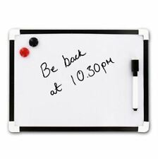 A4 MINI WHITE BOARD WIPE BOARD MAGNETIC DRY WIPE PEN & ERASER