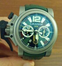 GRAHAM CHRONOFIGHTER OVERSIZED COMMANDO AUTOMATIC TITANIUM WATCH W/ APPRAISAL