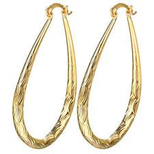 Women Elegant 18K Yellow Gold Filled Stud Hoop Dangle Earring Wedding Jewelry