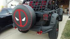 "SpareCover® Brawny Series - DeadPool 35"" Heavy Denim Vinyl Tire Cover"