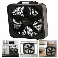 """20"""" Portable Fan Window Floor Home Indoor Cooling Thermostat Fans 3 Speed Black"""