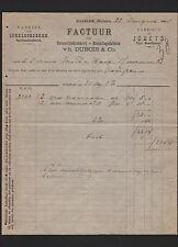 HOORN, Rechnung 1901, Dubois & Co. Spielwaren-Fabrik