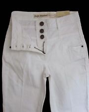 New Womens White High Waisted NEXT Jeans Size 8 Regular LABEL FAULT
