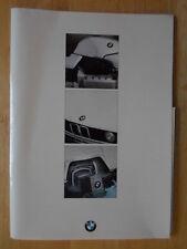 BMW GAMME 1984 3 5 6 7 Série brochure d'entreprise + livret de services