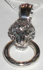 BILL WALL PN958 MEDIUM LION PENDANT STAMPED RING BWL 925 STERLING SILVER