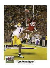 RASHAD JOHNSON ALABAMA CRIMSON TIDE FOOTBALL vs LSU S/N PRINT
