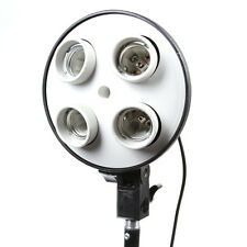 Four E27 4 in1 Socket Photo Video Studio Lamp Light Bulb Umbrella Bracket Holder