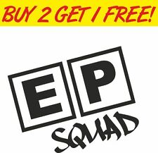 EP squad decal. autocollant pour Honda Civic Type R MUGEN JDM