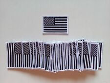 """50 USA American Flag (Black/White) Embroidered Patches 3""""x2""""-"""