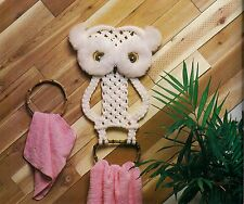 Rare Kids Owl Towel Rack Pattern - Craft Book: #905 Macrame for Ages 8 and Up 2